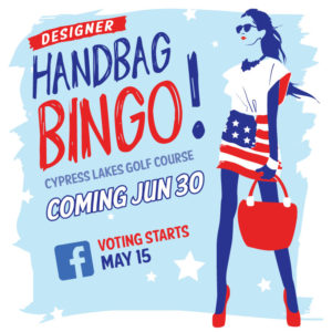 Handbag Bingo Red White Blue