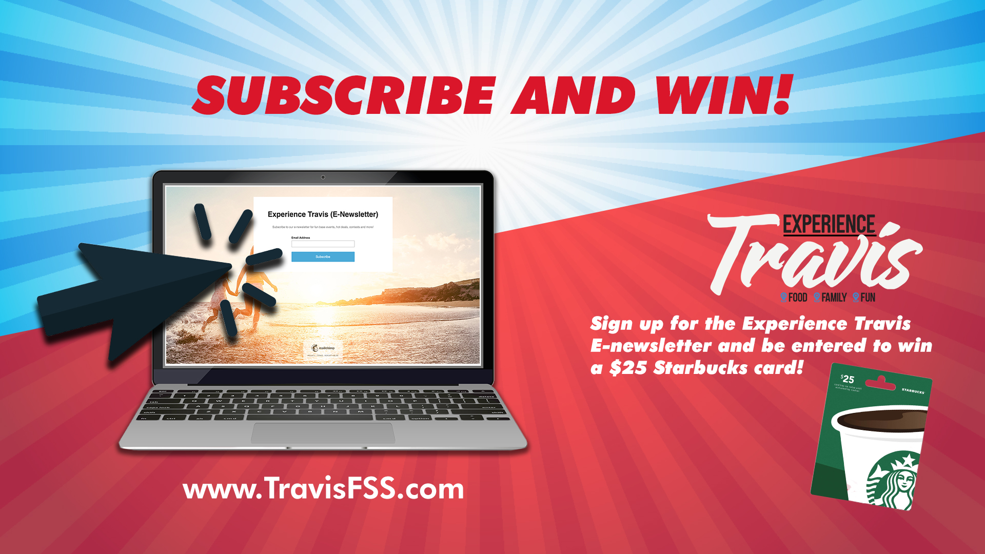 Subscribe To Experience Travis E-newsletter