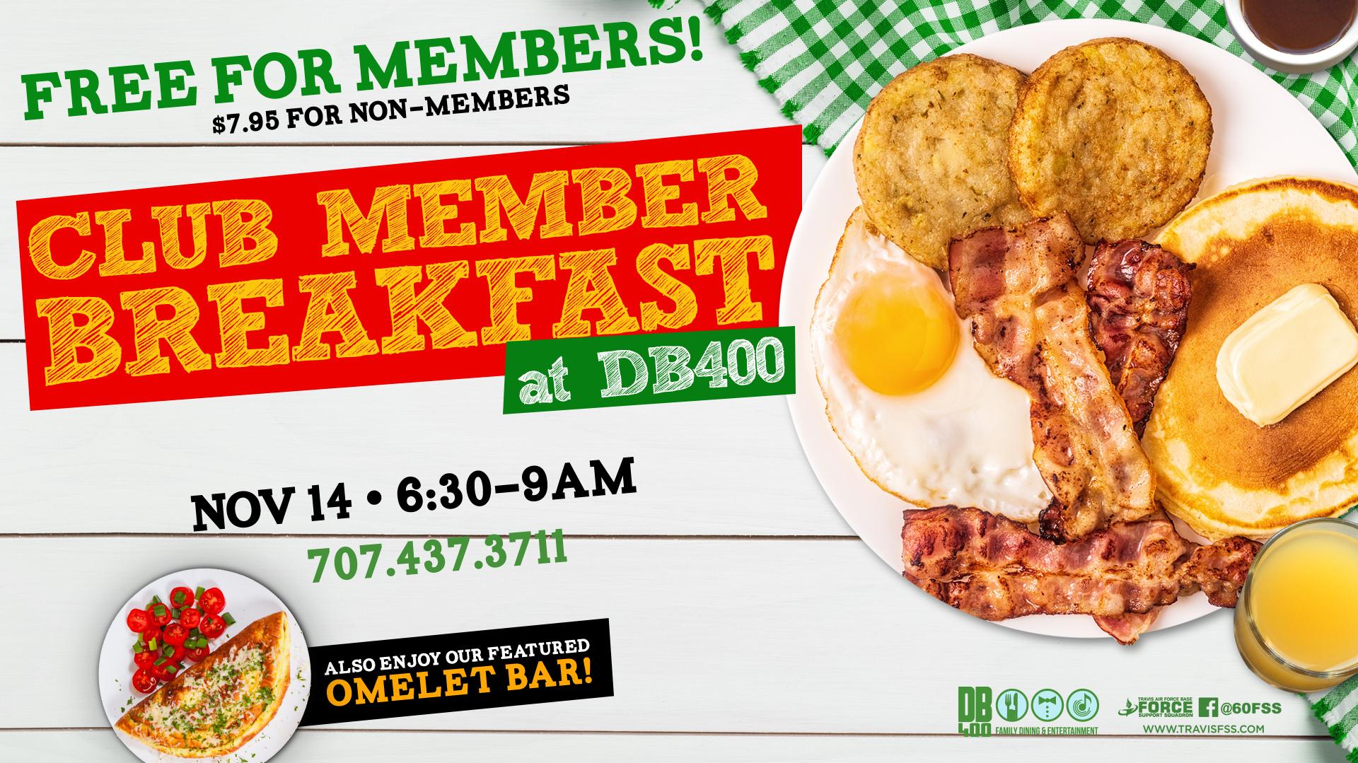 Club Member Breakfast