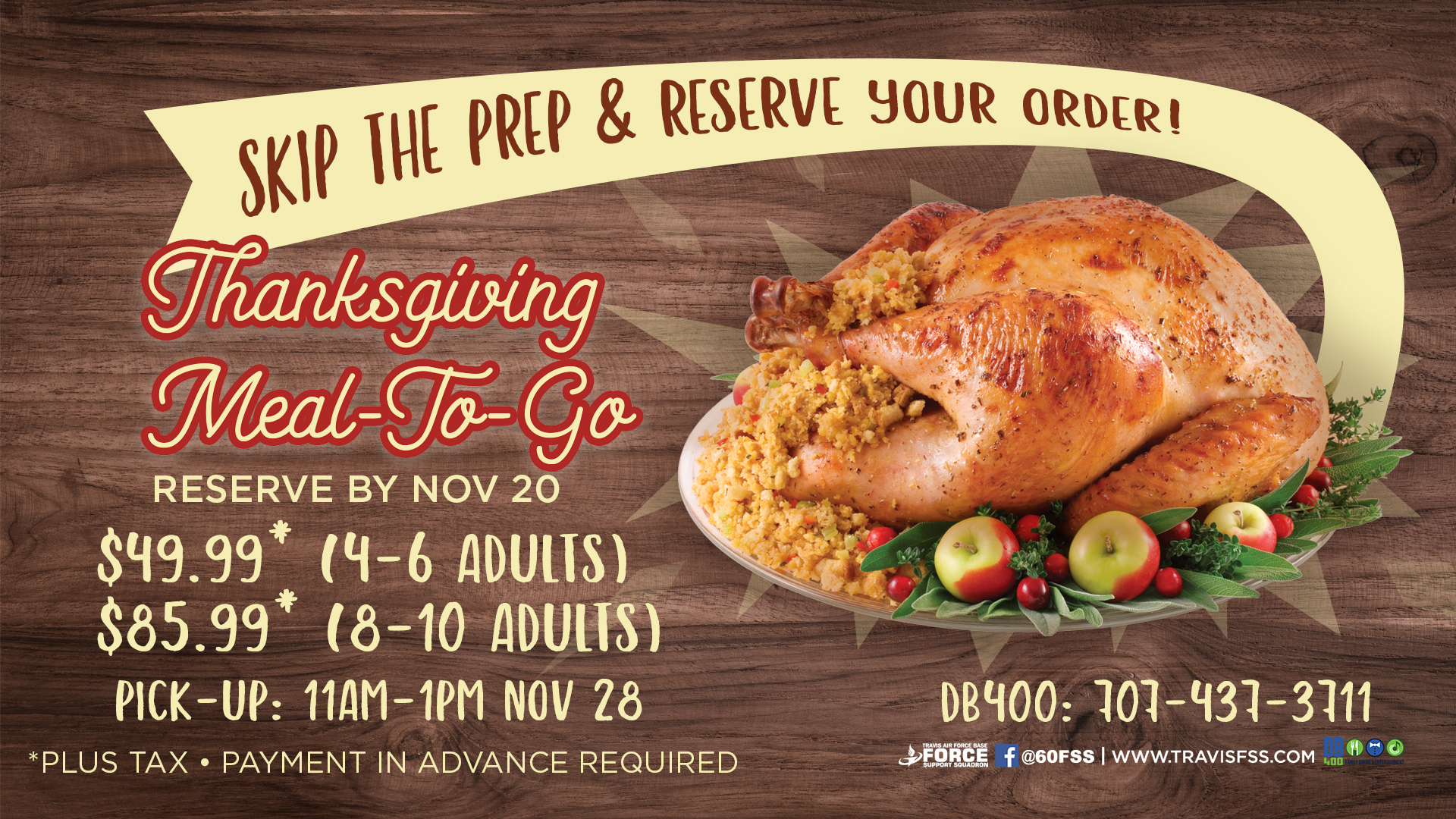 Thanksgiving Meals To Go